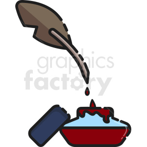 blood ink pen clipart. Royalty-free image # 410522