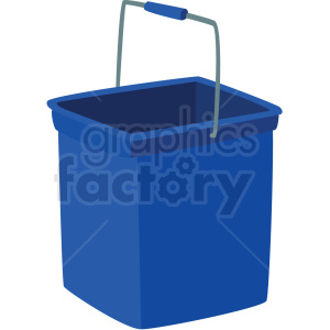 blue bucket vector clipart clipart. Commercial use image # 410535