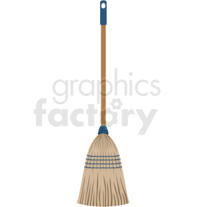 kitchen broom vector clipart clipart. Commercial use image # 410537
