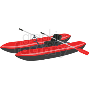 single seat water raft vector clipart clipart. Royalty-free image # 410600