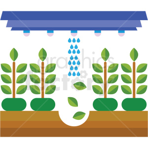 agriculture greenhouse system vector icon clipart. Commercial use image # 410627
