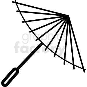 japanese umbrella vector icon clipart. Royalty-free image # 410687