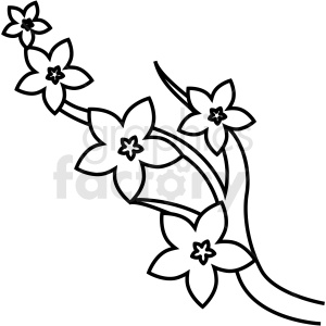 japanese cherry blossom vector icon clipart. Commercial use image # 410695