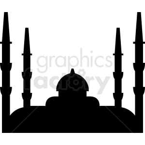 mosque vector silhouette clipart. Royalty-free image # 410733