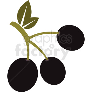 olives on a branch vector icon no background clipart. Commercial use image # 410783