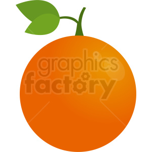cartoon orange vector icon clipart. Royalty-free image # 410805