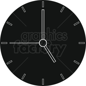 clock vector design clipart. Royalty-free image # 410814