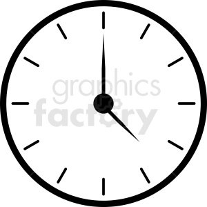 wall clock clipart clipart. Royalty-free image # 410816