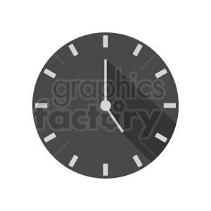 wall clock flat icon design clipart. Commercial use image # 410819