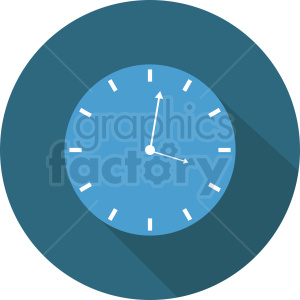 blue clock on circle background clipart. Commercial use image # 410829