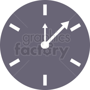 clock vector icon clipart. Royalty-free image # 410833
