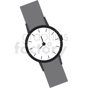 wrist watch vector clipart clipart. Royalty-free image # 410840