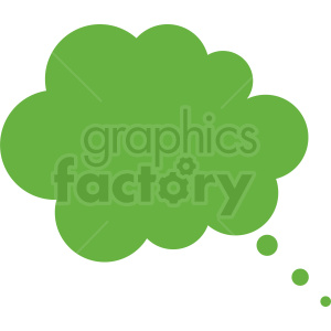 green thought bubble vector clipart no background clipart. Commercial use image # 410846