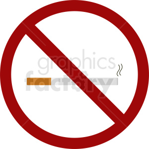 no smoking vector icon clipart. Commercial use image # 410850
