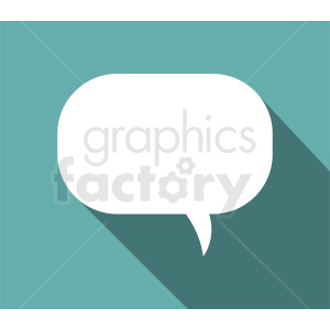 speech bubble vector clipart on aqua background clipart. Royalty-free image # 410852