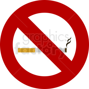 no smoking allowed vector icon clipart. Royalty-free image # 410880