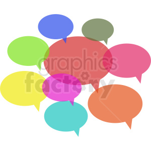 group chat bubble vector clipart on gray background clipart. Royalty-free image # 410884