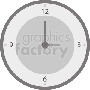 wall time clock vector clipart no background clipart. Commercial use image # 410902