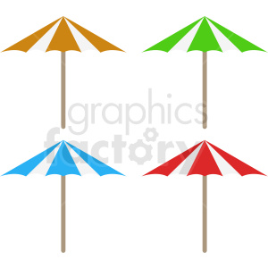 umbrellas vector clipart design clipart. Commercial use image # 410908