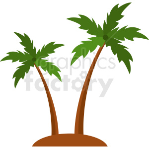 vector palm trees clipart. Commercial use image # 410942
