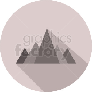 mountain vector design on circle background clipart. Royalty-free image # 410954