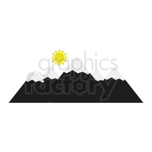 mountain scene vector clipart clipart. Royalty-free image # 410959