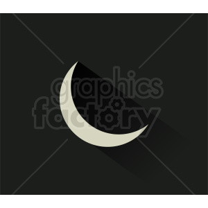cresent moon vector on dark background