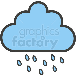 rain cloud clipart clipart. Commercial use image # 410984