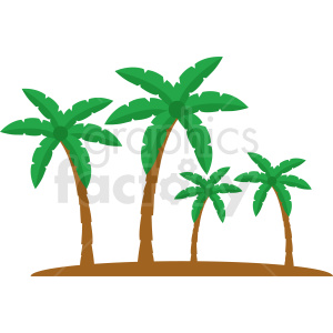 vector palm trees clipart clipart. Commercial use image # 410994
