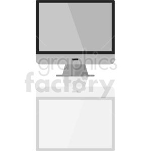 computer display vector clipart clipart. Royalty-free image # 411001