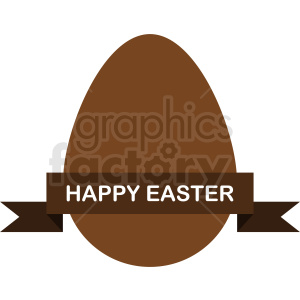 easter egg with label vector clipart clipart. Royalty-free image # 411049