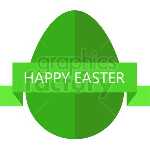 happy easter egg with green label vector clipart