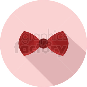 red bow tie vector clipart on circle background clipart. Royalty-free image # 411075