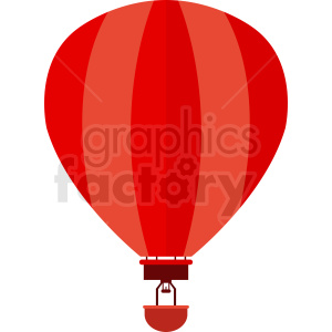 red hot air balloon vector clipart clipart. Commercial use image # 411101
