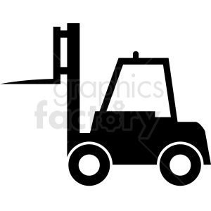 warehouse fork lift vector clipart clipart. Royalty-free image # 411103