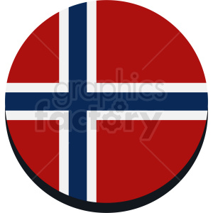 flag of Norway circle icon clipart. Royalty-free image # 411118