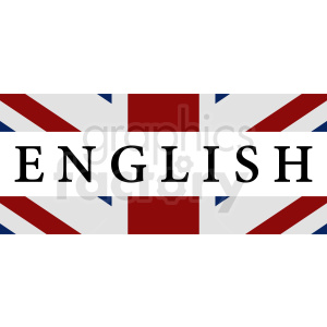 English text with flag vector clipart clipart. Royalty-free image # 411127