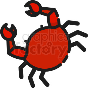 red crab vector clipart clipart. Commercial use image # 411200