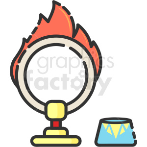 ring of fire circus vector clipart clipart. Commercial use image # 411204