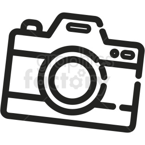 black and white camera vector icon clipart. Commercial use image # 411214