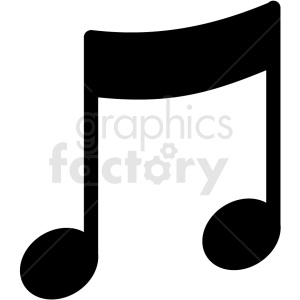 music note vector clipart