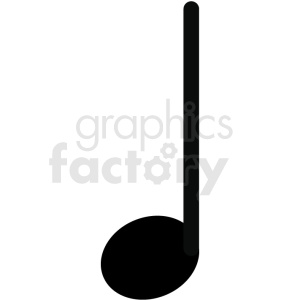 music quarter note vector image clipart. Commercial use image # 411249
