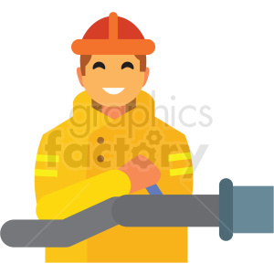 firefighter flat icon vector icon clipart. Commercial use icon # 411304