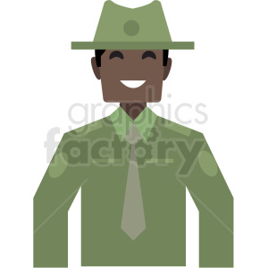 black ranger flat icon vector icon clipart. Commercial use image # 411336