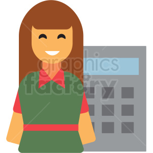 cashier flat icon vector icon clipart. Royalty-free image # 411340