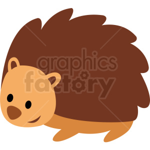 baby cartoon porcupine vector clipart clipart. Royalty-free image # 411378