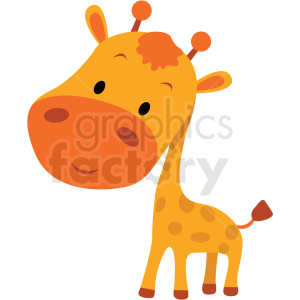 baby cartoon giraffe vector clipart clipart. Royalty-free image # 411394