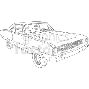 1969 Dodge Dart vector clipart clipart. Commercial use image # 411480