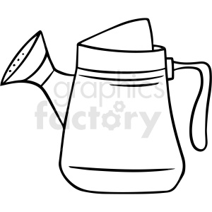 cartoon watering can black white vector clipart clipart. Commercial use image # 411482