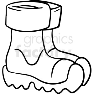 cartoon boots black white vector clipart clipart. Commercial use image # 411486